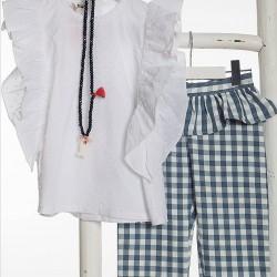 Bluson plumeti+pantalón corsario Toile de jouy